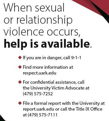When sexual or relationship violence occurs
